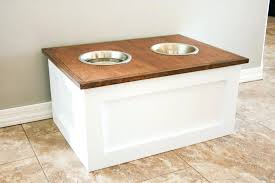 dog bowls and stand food station with storage single bowl uk