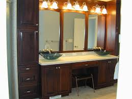 double sink vanity with makeup counter. single sink vanity with makeup area of double counter