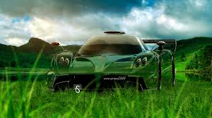 pagani zonda revolucion crystal nature car
