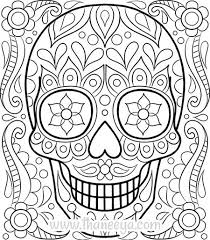 Small Picture Free Sugar Skull Coloring Page by Thaneeya McArdle color
