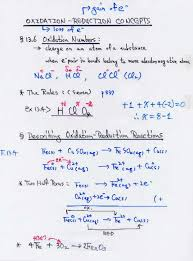 oxidation reduction reactions redox concept