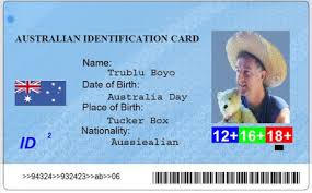 Make Your Own Identification Card Sam And Tim Make Your Own Australia Id Card