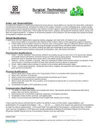 Surgical Tech Resume Examples Surgical Tech Resume Sample Or