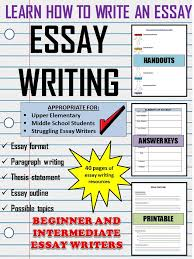 this is an easy to use outline for writing an essay or paragraph  essay writing for beginners notes organizers examples handouts