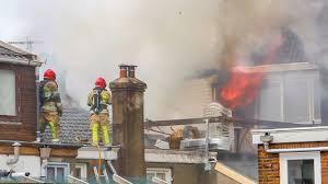Grote Brand Aan De Kapelstraat In Bussum
