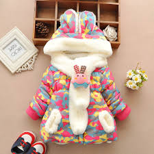 21 15 cute rabbit baby winter jacket thick cotton padded baby girl outerwear infant baby boys parka toddler girls snow wear baby coat