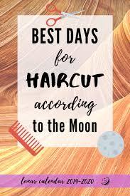Haircuts Lunar Calendar Best Days Depending On Moon