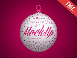 Free Christmas Ball Mock Up In Psd By Mockupfree Dribbble Dribbble