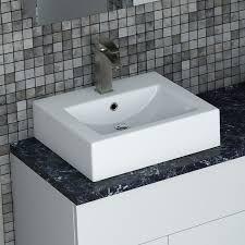 square countertop basin