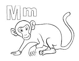 Cute Monkey Coloring Pages Printable Coloring Pages Monkey Coloring