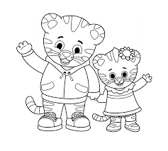 Tiger coloring in pages in children's beautiful world. Art Daniel Tiger Pbs Kids