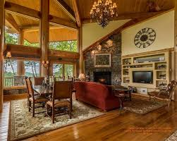 Log Cabin Living Room Concept Simple Design Inspiration