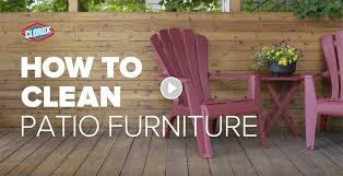 how to clean patio furniture with clorox outdoor bleach