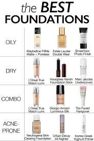 find the best foundation for your skin type find high end and foundations for oily dry bination and acne e skin