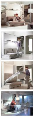 A great tiny house solution for single level bedroom. Murphy Bed ...