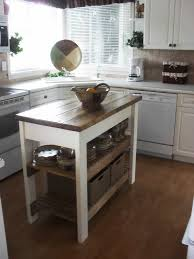 small kitchen island butcher block.  Small Small Kitchen Island Table With Butcher Block Tops And Two Bottom Shelves To