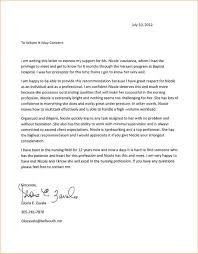 Bunch Ideas Of Sample Recommendation Letter For School Nurse On