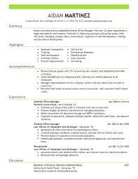 Resume Format For Office Admin General Manager Resume Sample Resume