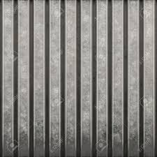 Some Corrugated Metal Building Material With Vertical Ridges