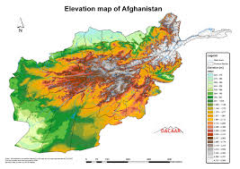 afghanistan elevation map  afghanistan • mappery