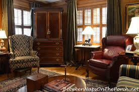 paneled room with green velvet ds english country style