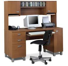 image of computer desk with hutch