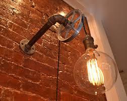 etsy industrial lighting. pulley light wall industrial lighting etsy