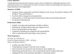 Human Resources Clerk Sample Resume Research Psychologist For Hr
