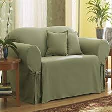 Slipcover Price Chart Surefit Sf33051 Cotton Duck One Piece Loveseat Slipcover