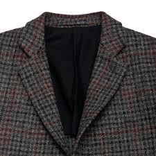 Margaret Howell Wide Wrap Blazer Glen Check Harris Tweed