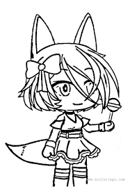 Get a free club title at level 5! Fox Girl From Gacha Life Coloring Pages Xcolorings Com