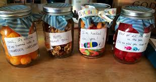 Easy Diy Birthday Gift For The Boyfriend Just Decorate Some Mason Jars And Fill With Candy Diy Birthday Gifts Diy Birthday Boyfriend Anniversary Gifts