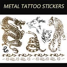 1 Pcs Non Toxic Vzor Velká Velikost Dočasné Tetování Zvířecí řada Velká Velikost Tělesné Arts Spodní část Zad Waterproof