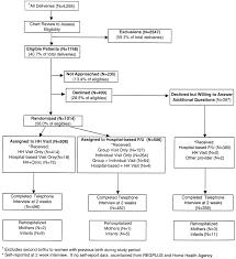 a randomized comparison of home s and hospital based group figure