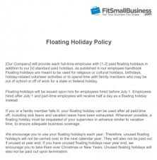 Vacation Coverage Plan Template Floating Holiday Definition How To Implement Your Policy