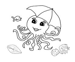 Octopus Coloring Pages Preschool And Kindergarten