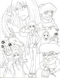 spirited away coloring pages. Wonderful Coloring Spirited Away Coloring Pages  For A