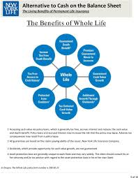 The insured does not have to die to use the policy. Alternative To Cash On The Balance Sheet The Living Benefits Of Permanent Life Insurance Pdf Free Download