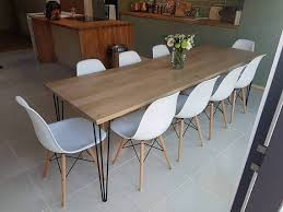 solid oak banquet table dining tablehairpin leg table kitchen table80 table