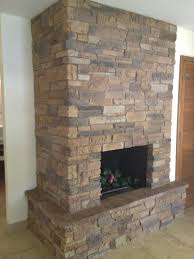 comely stone veneer fireplace