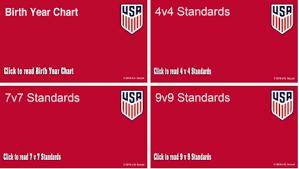 Us Soccer Standards Chart Recreational Soccer