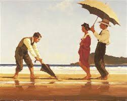 jack vettriano love letters in the sand