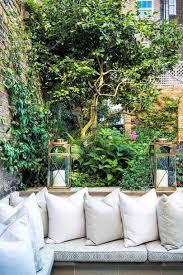 built in corner bench small garden ideas