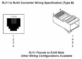 to rj45 converter type b  at J11 Wiring Diagrarj11 Wiring Diagram