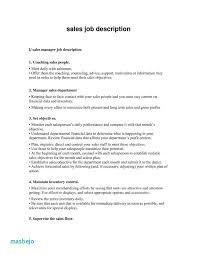 Retail Associate Job Description Cool Sales Associate Job Description Resume Example Resume For Sales