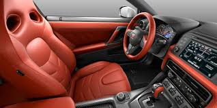 nissan gt r red amber semi aniline leather interior