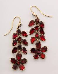 george iv georgian garnet chandelier earrings signify affection for