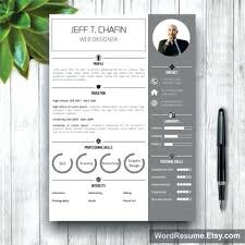 Etsy Resume Template Gorgeous Etsy Modern Resume Template Etsy Resume Template Modern Cover Letter