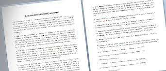 Sample Word Document Templates Simple Nda Template For Microsoft Word