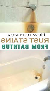 remove rust stains from tile clean rust from bathtub how to remove rust stains from porcelain